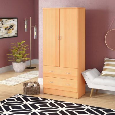 Guerrera Wardrobe Armoire Ebern Designs Color: Beech