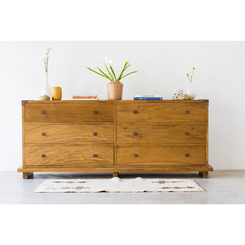Loon Peak Craut 6 Drawer Double Dresser Wayfair