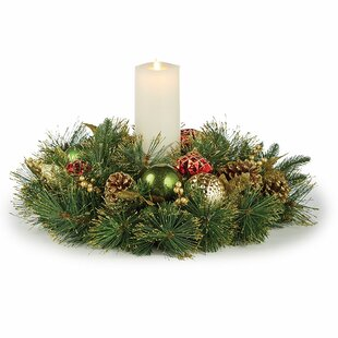 Traditional Highland Holiday Candle Centerpiece