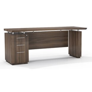 Mayline Group Sterling Single Pedestal Executive Desk with 3 Left Drawers