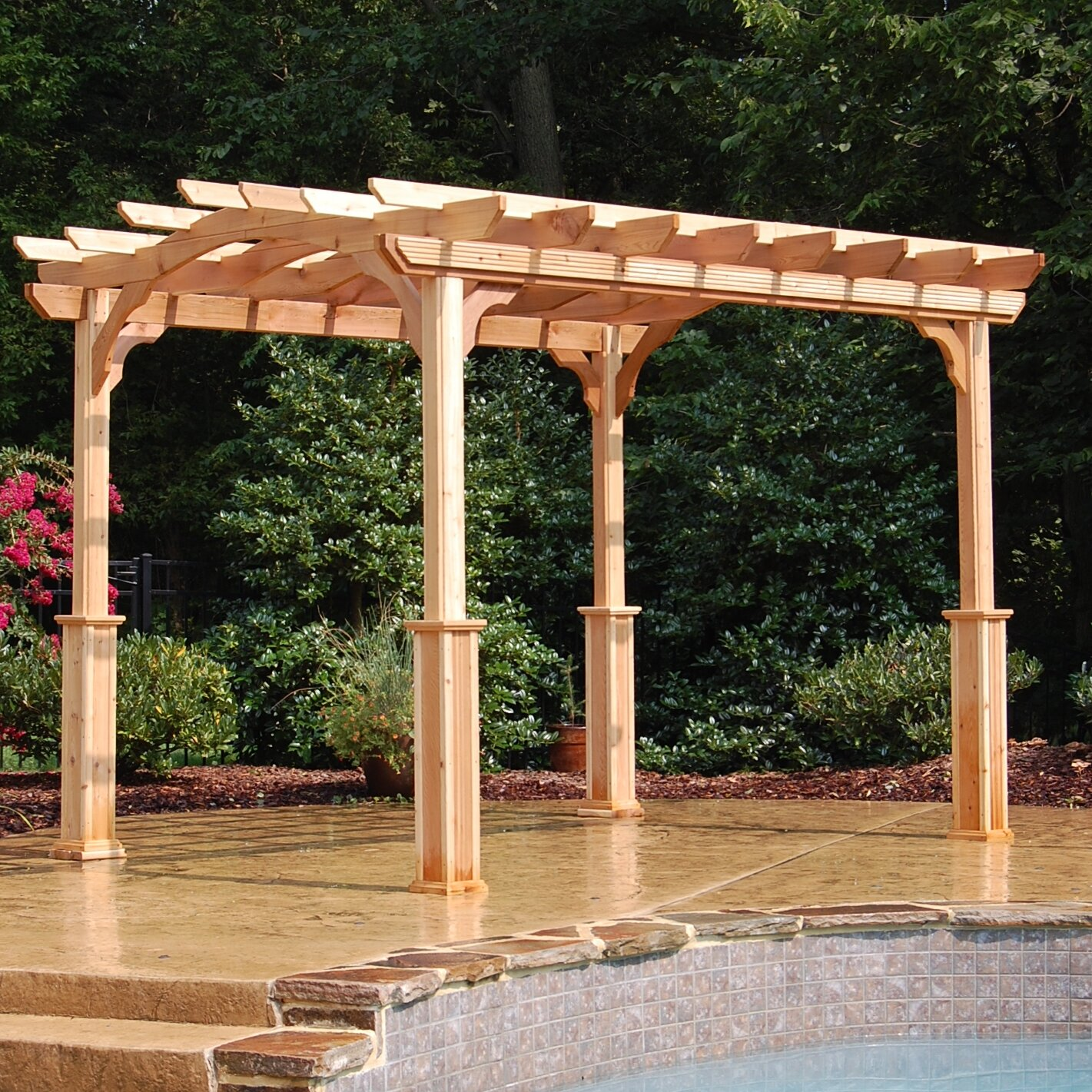 - Suncast 10 Ft. W X 12 Ft. D Solid Wood Pergola & Reviews Wayfair