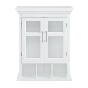 White Bathroom Wall Cabinets wall mounted bathroom cabinets you'll love | wayfair