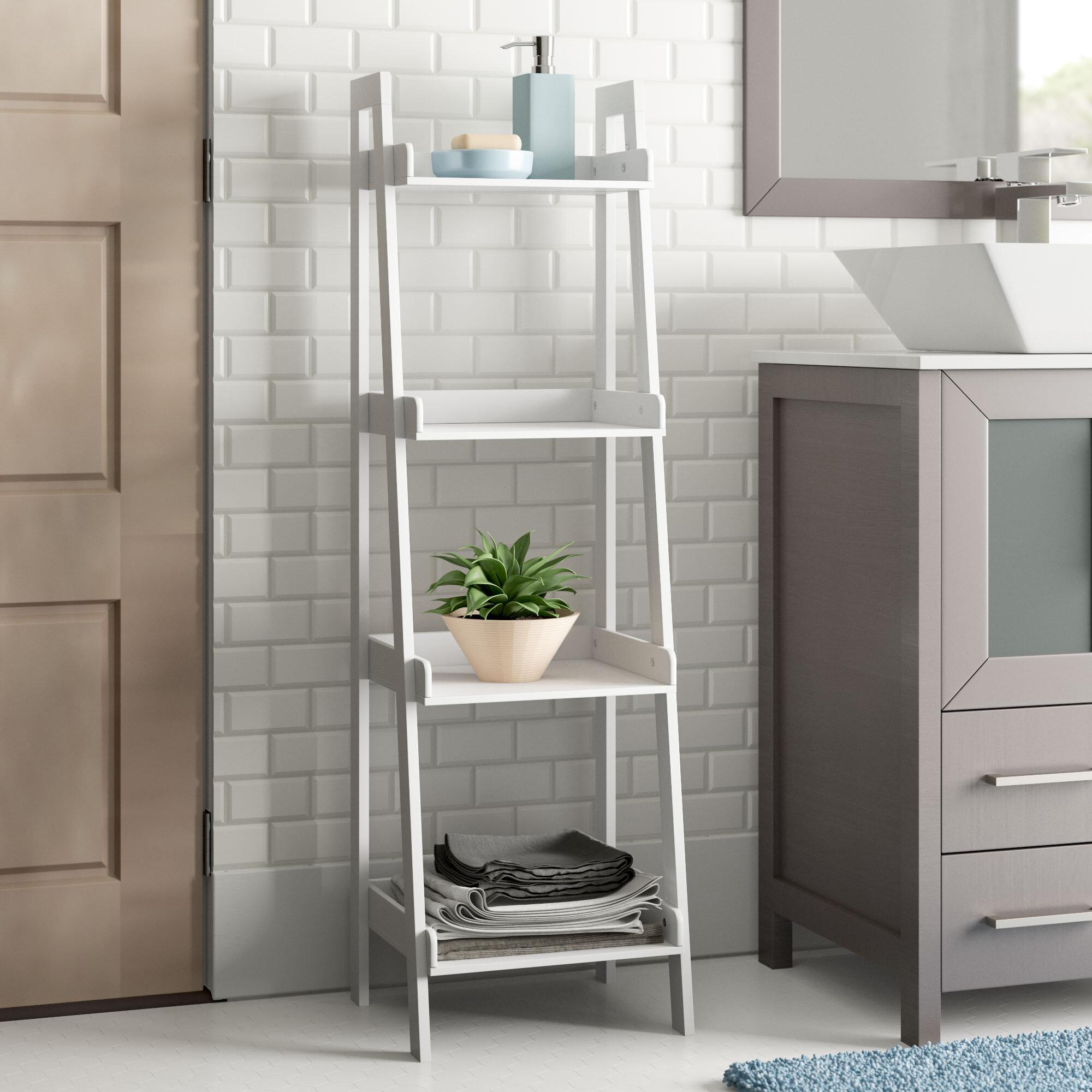 Zipcode Design Hoschton 44 H Free Standing Bathroom Shelves Reviews Wayfair