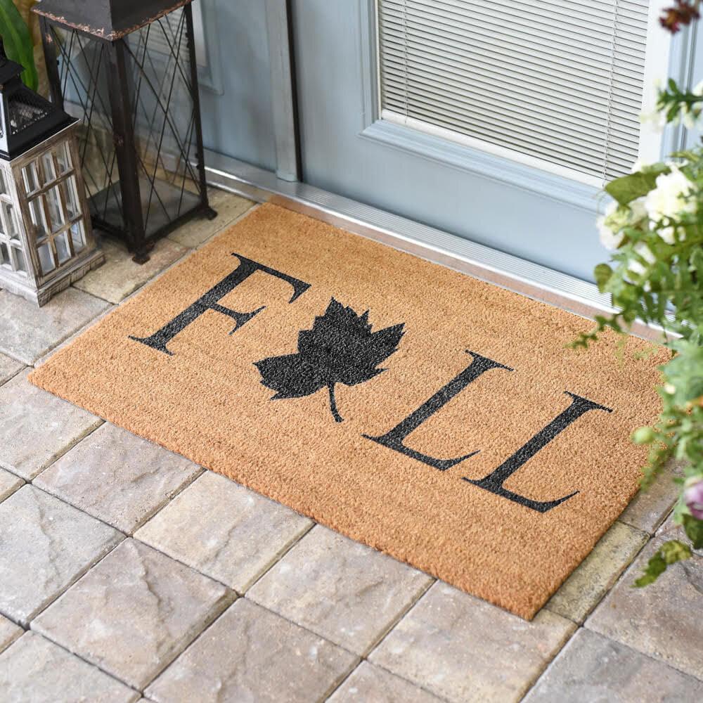Ebern Designs Vannatter Fall Leaf Coir 30 In X 18 In Non Slip Indoor Door Mat Wayfair