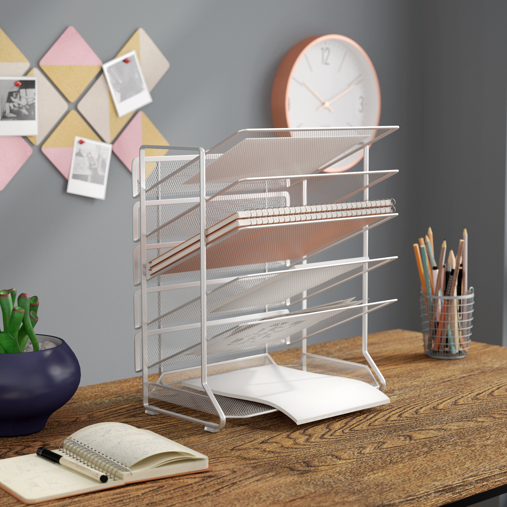 Strange Dwain Office Desk Organizer Home Remodeling Inspirations Cosmcuboardxyz