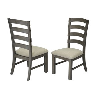 Rand Upholstered Dining Chair (Set of 2) Canora Grey