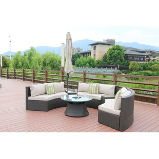 Find the perfect Dripping Springs Curved 6 Piece Sectional Set with Cushions Great buy