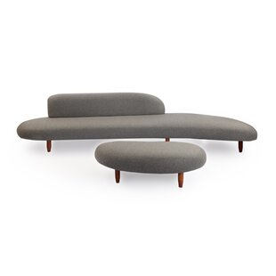 Potvin Mid Century Modern Sofa and Ottoman Set