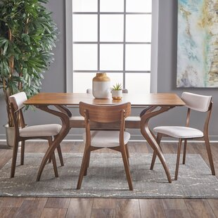 Taurean 5 Piece Solid Wood Dining Set by Corrigan Studio