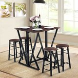 Clemente 5 Piece Counter Height Drop Leaf Dining Set by 17 Stories