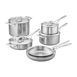 Industry 10 Piece Stainless Steel Cookware Set