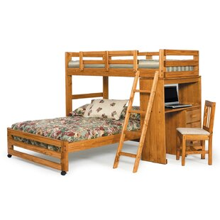Read Reviews Twin over Full L-Shaped Bunk Bed By Chelsea Home