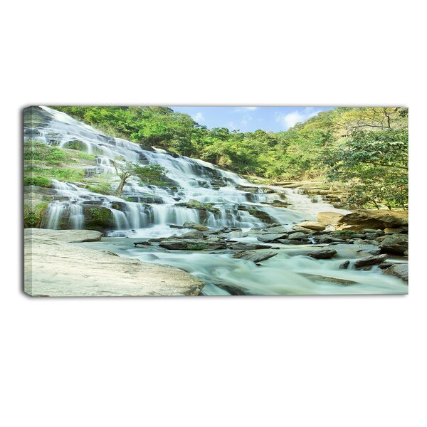 Designart Maeyar Waterfall Landscape Photographic Print On Wrapped Canvas Wayfair