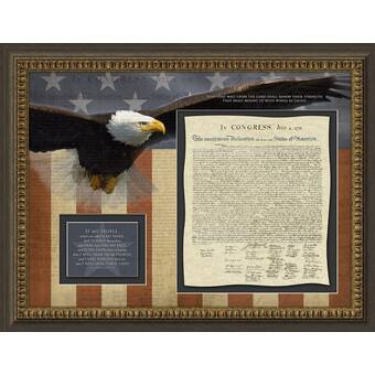 Patriotic 'Declaration of Independence' Framed Art