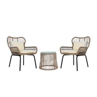Chess Patio 3 Piece Seating Group with Cushions