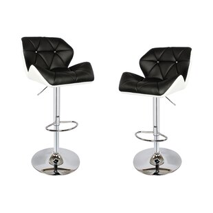 Darley Adjustable Height Swivel Bar Stool (Set Of 2) Amazing