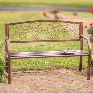 Cat Metal Garden Bench