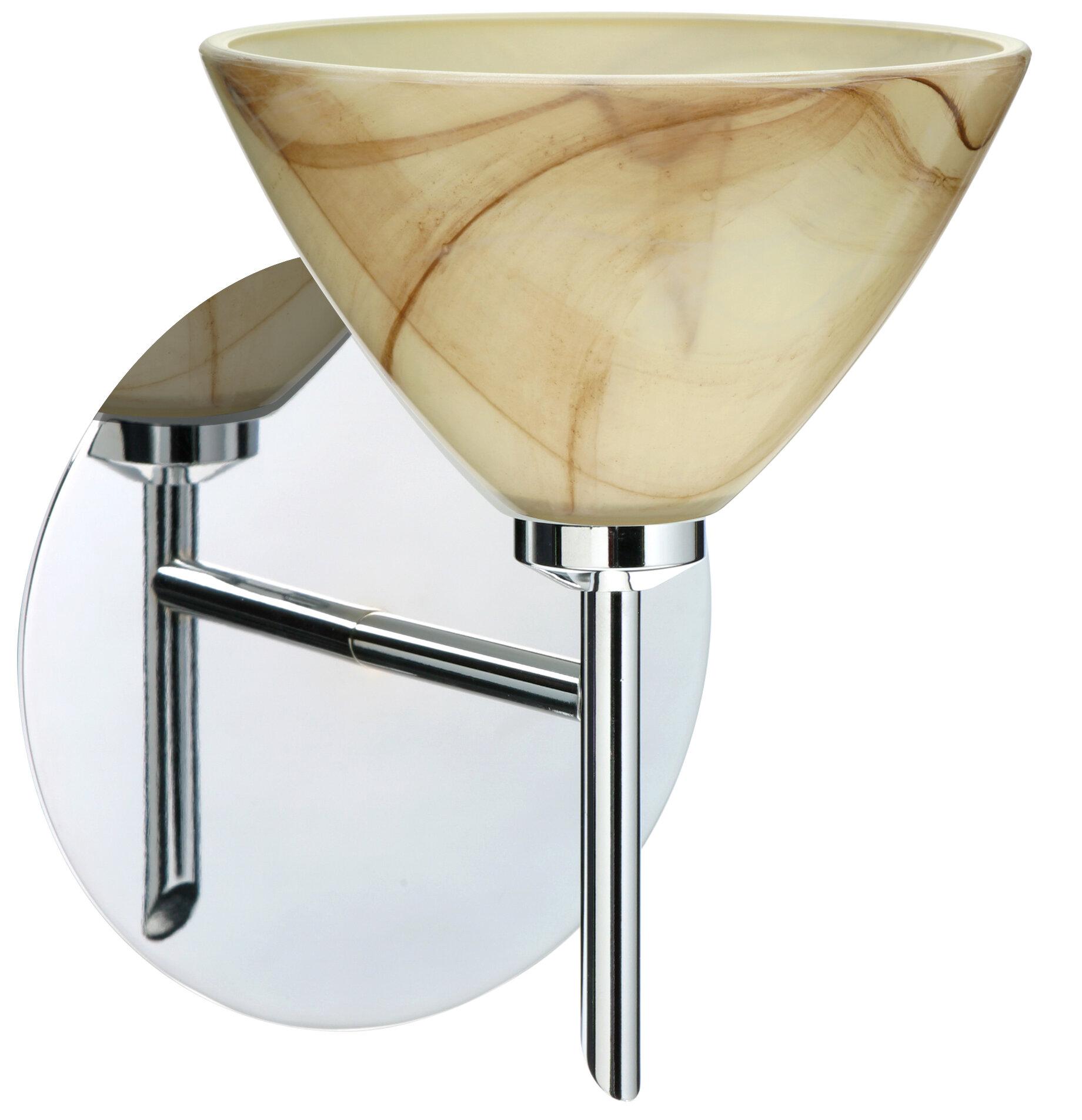 Ebern Designs Pownal 1 Light Armed Sconce