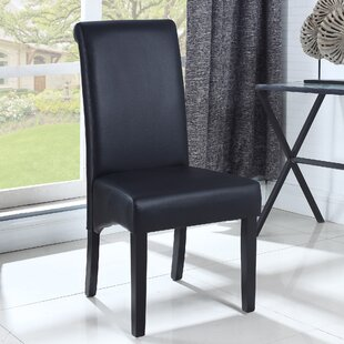 BestMasterFurniture Leather Dining Side Chair (Set of 2)