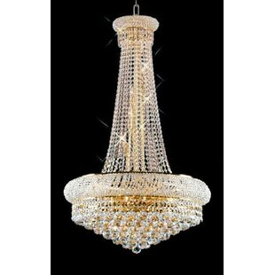 Stanton Trimmed French 15-Light Empire Chandelier by Rosdorf Park