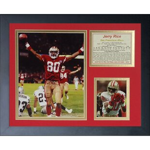 Jerry Rice Touchdown Framed Memorabilia by Legends Never Die