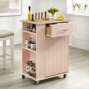 Toro Kitchen Cart with Solid Wood Top