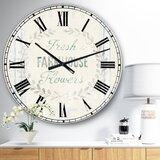 Farmhouse Kitchen Clock Wayfair