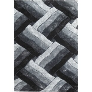 Deals Glam Black/White Area Rug By YumanMod
