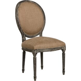 Medallion Side Chair in Linen - Copper by..