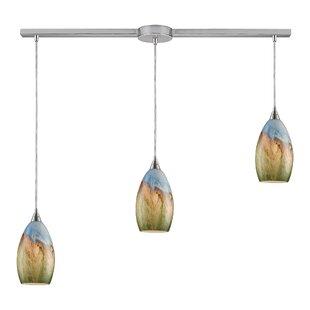 Linear track lighting pendants wayfair noi 3 light linear pendant mozeypictures Image collections