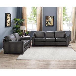 Order Drakeford 2 Piece Leather Living Room Set by Brayden Studio Reviews (2019) & Buyer's Guide