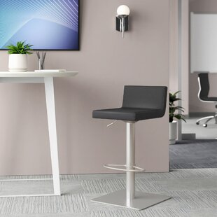 Harlowe Adjustable Height Swivel Bar Stool by Upper Square