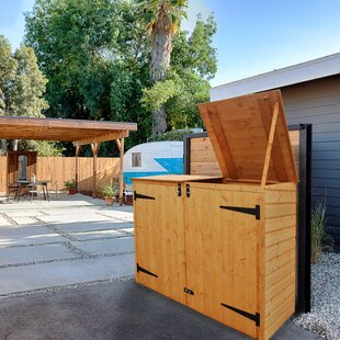 6 Ft. W X 4.5 Ft. D Wooden Horizontal Garbage Shed By Rowlinson
