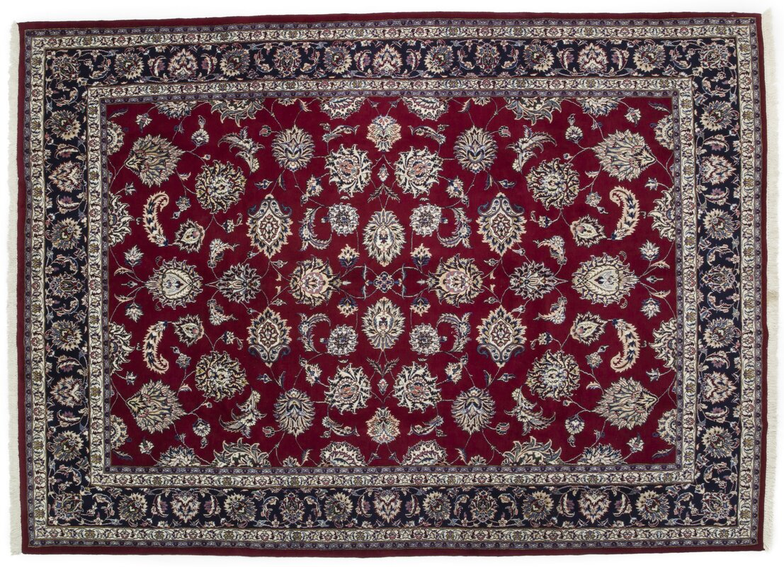 One Of A Kind Kashan Hand Knotted Red Area Rug