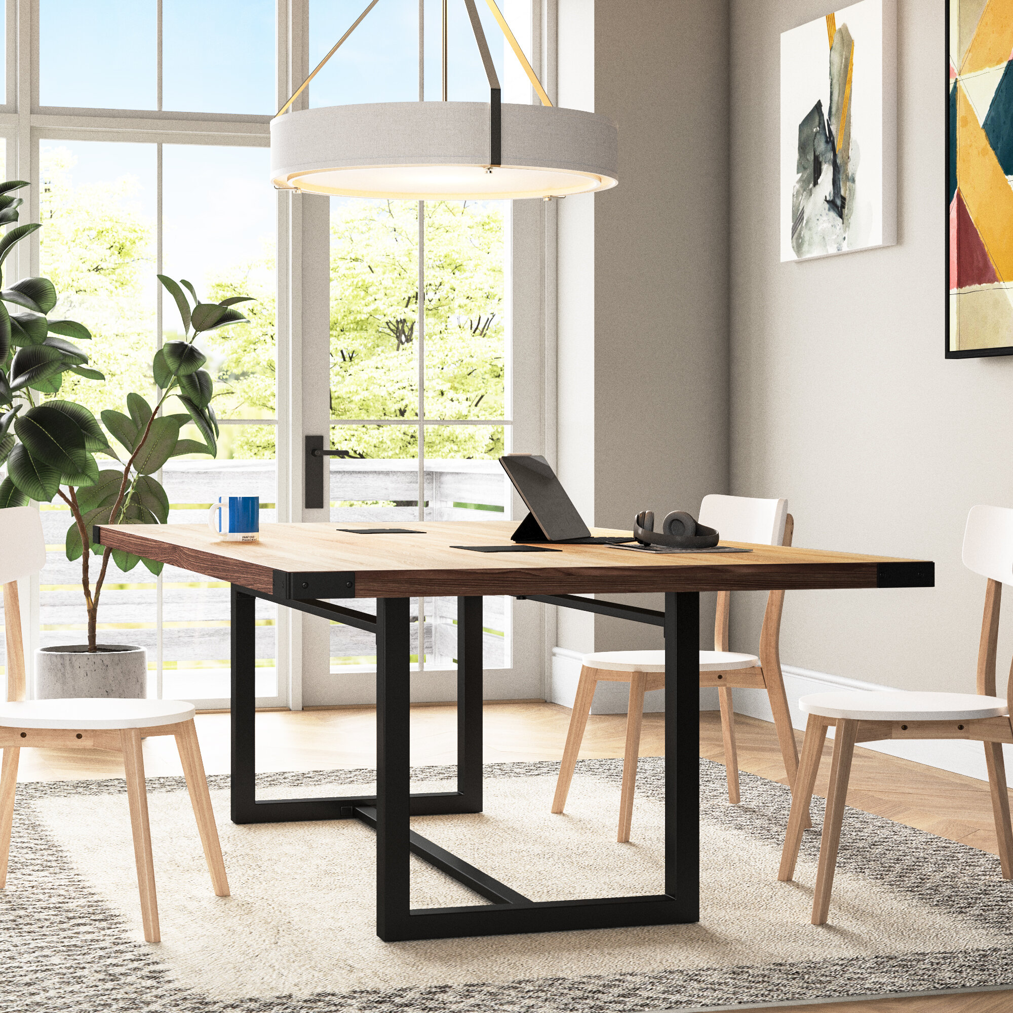 Latitude Run® Capen Rectangular Conference Table & Reviews | Wayfair