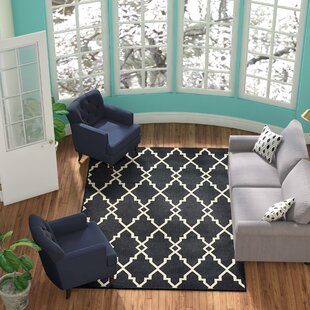 Salerno Lattice Black Indoor/Outdoor Area Rug