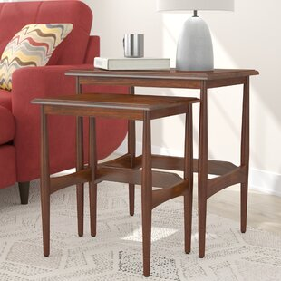 Budget Cavitt Mid-Century Modern 2 Piece Nesting Tables By Latitude Run