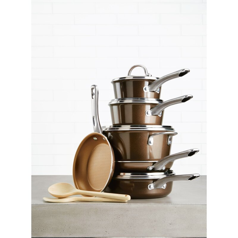c45841531e0 Ayesha Curry Home Collection 12 Piece Aluminum Non Stick Cookware ...