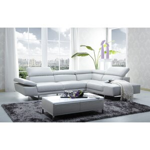 Centralia Leather Reclining Sectional by Wade Logan