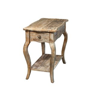 Alaterre Simplicity Driftwood End Table With Storage