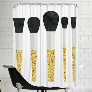 Grossular Makeup Brushes Single Shower Curtain