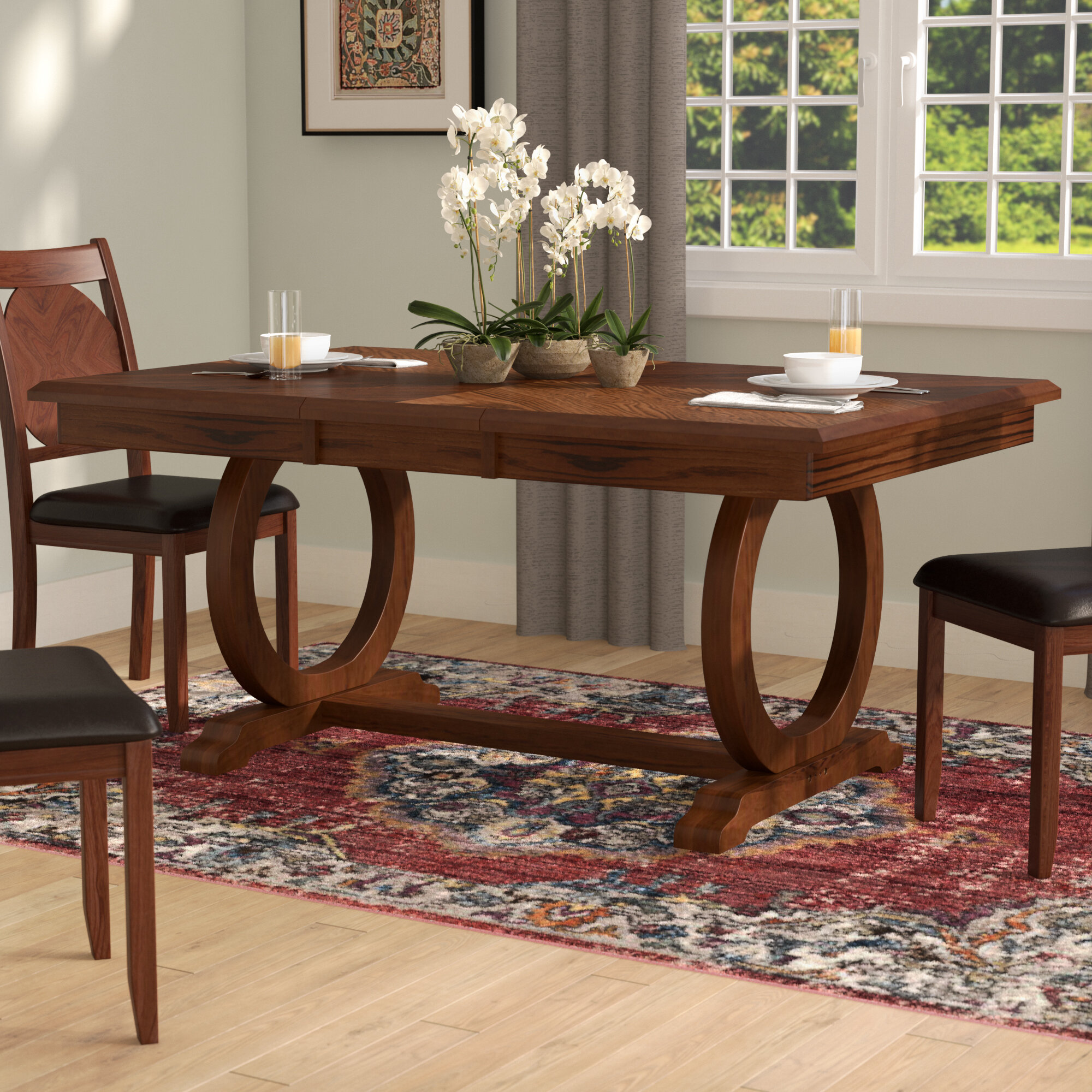 World Menagerie Kapoor Extendable Dining Table Reviews Wayfair - Extendable beech dining table