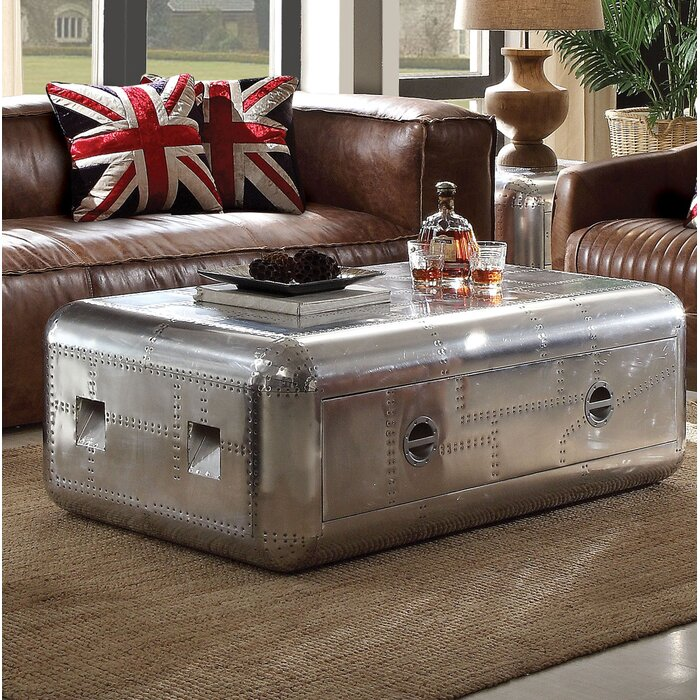 Surprising Lottie Trunk Aluminum Coffee Table With Storage Onthecornerstone Fun Painted Chair Ideas Images Onthecornerstoneorg