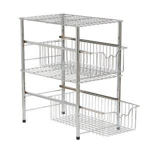 Rebrilliant Chatman Chrome Shelving Rack