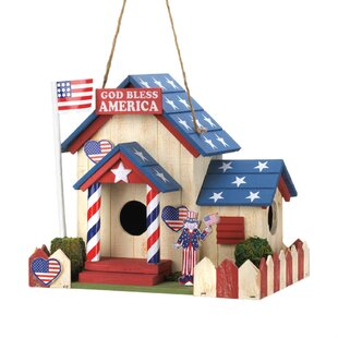 Zingz & Thingz All American 7 in x 8.5 in x 6.5 in Birdhouse