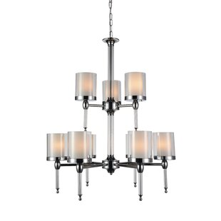 CWI Lighting Maybelle 9-Light Shaded Chandelier