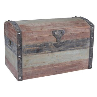 Household Essentials Large Weathered Wooden Storage Trunk