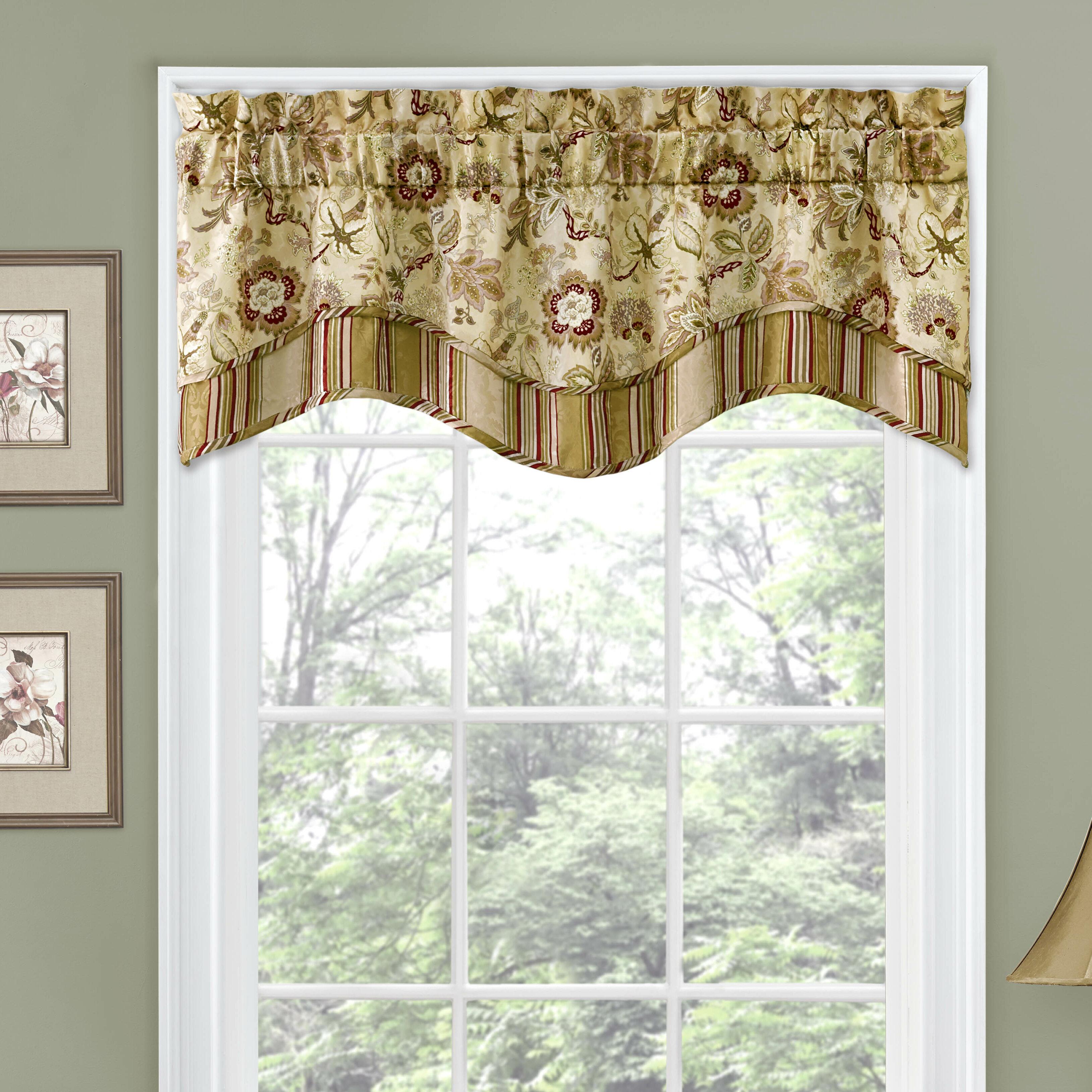 Traditions By Waverly Navarra 52 Window Valance Reviews Wayfair