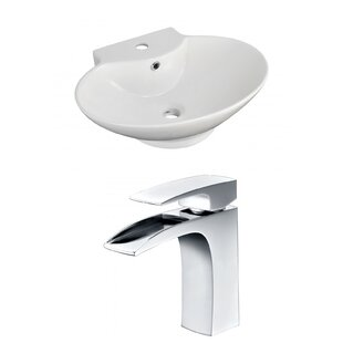 Great Price Above Counter Ceramic Oval Vessel Bathroom Sink with Faucet and Overflow By Royal Purple Bath Kitchen