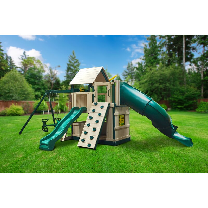 Kidwise Congo Explorer Tree House Climber Swing Set Wayfair